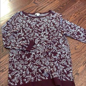 LOFt Maroon Sweater